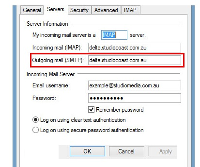 AOL mail setup in outlook - Add the user information