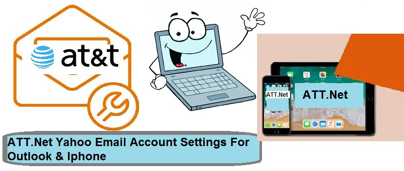ATT.Net Yahoo Email Account Settings For Outlook & Iphone
