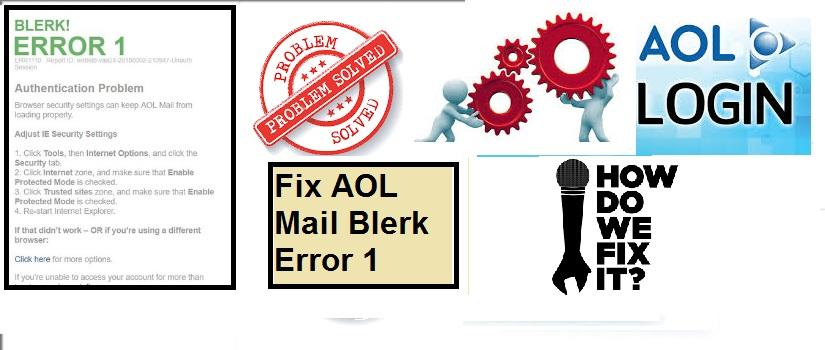 Fix AOL Mail Blerk Error 1