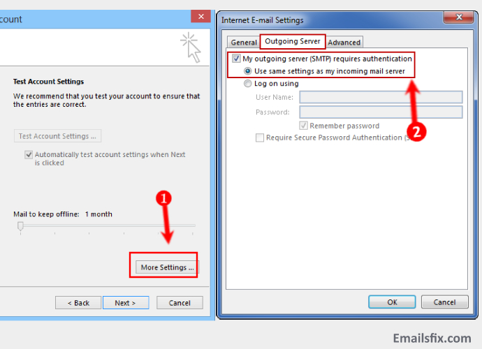 More Settings-1and1 Email Settings For Outlook 2013