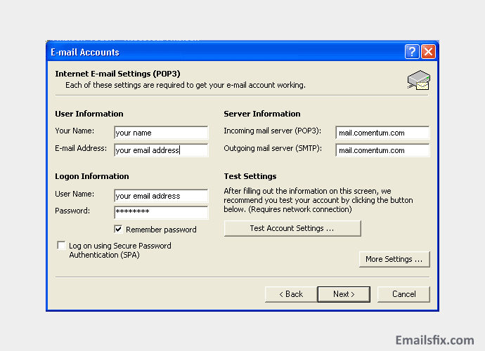 0x800ccc0f outlook 2007