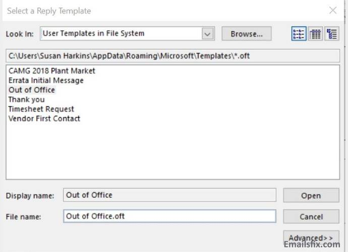 User Template-how to set up out of office in outlook 2016