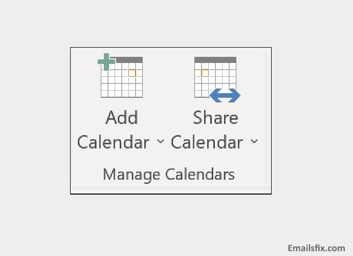 Click on 'Share Calendar'- how to create a shared calendar in outlook 2016