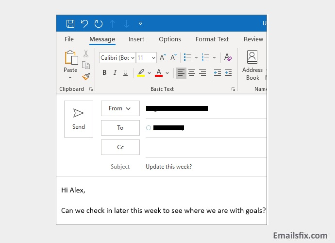 'To', 'Cc', or 'Bcc'- Create Email Account
