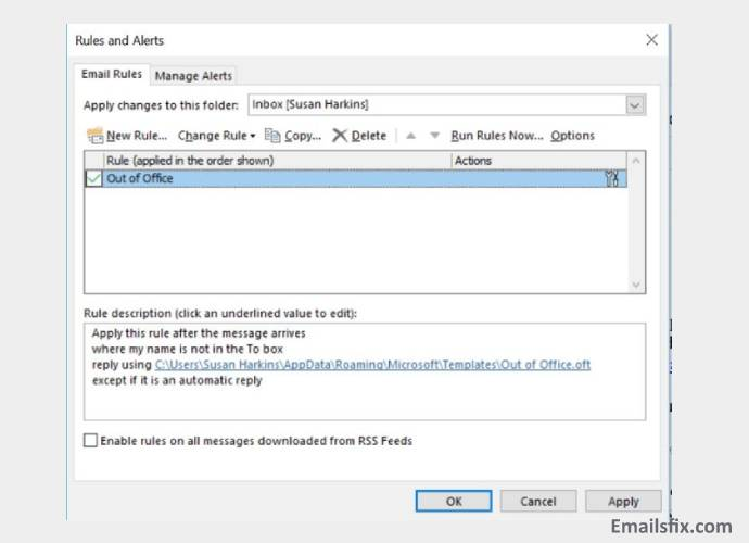how to set up out of office in outlook 2007
