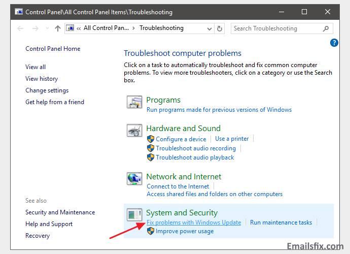 Fix Windows update problems -update for office 2003 kb907417 error 0x80096004