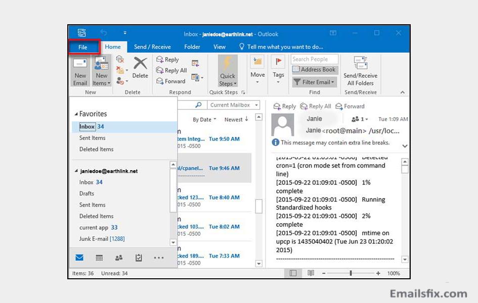 earthlink email server settings