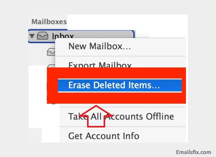 Delete your Comcast Emails- select the 'Delete all Messages' option