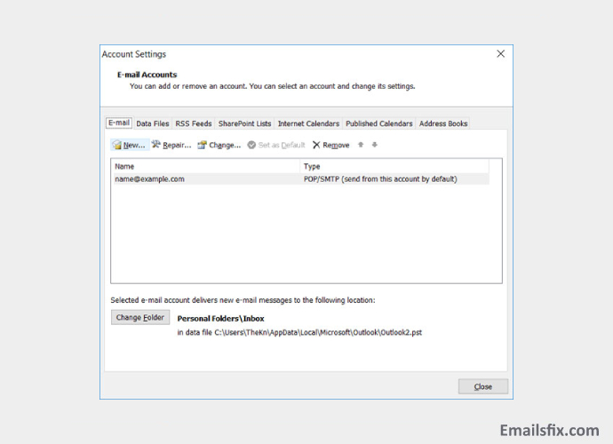 airmail net email settings