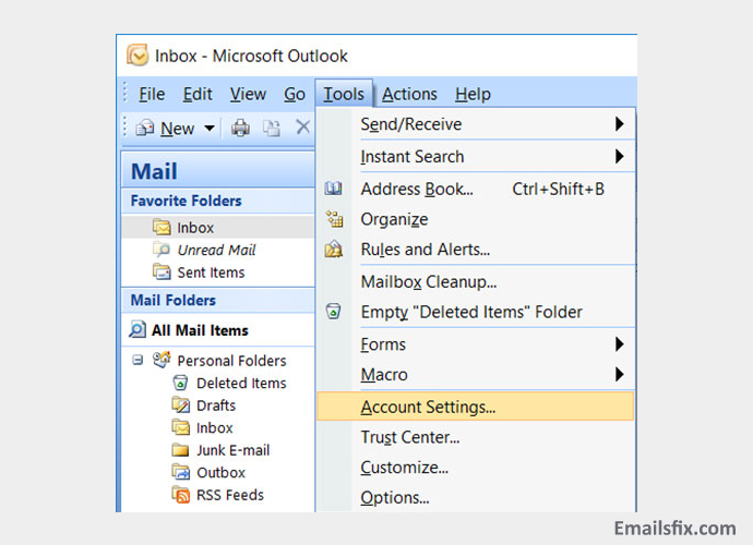 Account settings - sbcglobal net email settings outlook 2007