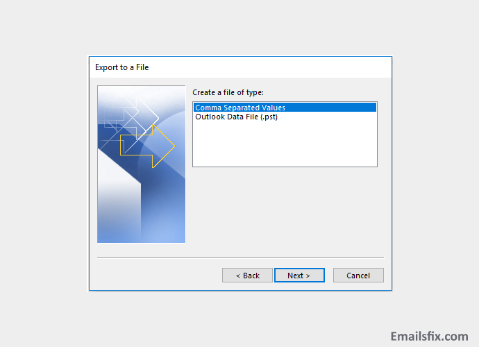 transfer outlook contacts to excel
