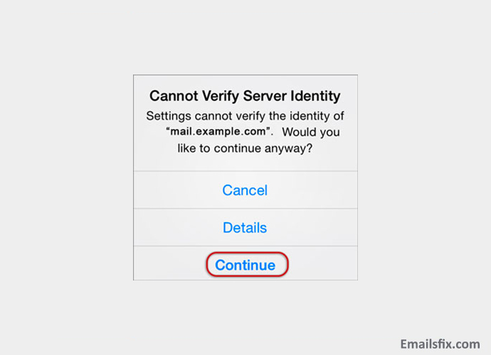 Continue - Setting up xplornet email on iphone