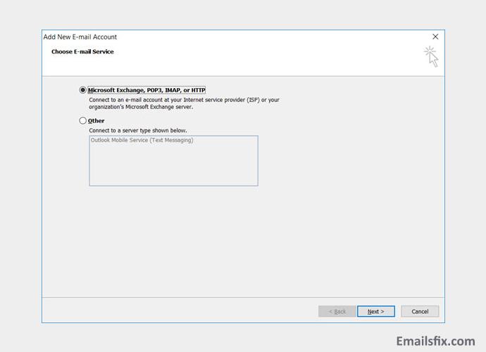 Microsoft Exchange, IMAP, POP3 or HTTP - Yandex outlook settings
